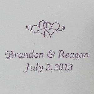 Purple Letter Press Wedding Announcement