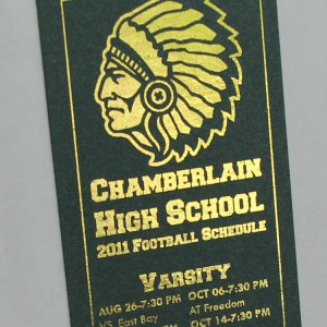 Gold Fuser Foil Highschool Football Schedule