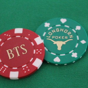 Poker Chip Hot Stamped W