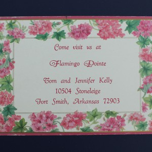 Hot Stamped Invitation