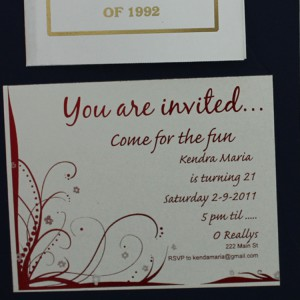 Red Fuser on Invitations