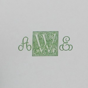 Green Letter Press Monogram